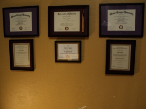 BS, 2 MS, 2 Licenses, Alpha Chi Honor Society